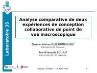 Caractérisation de la coopération dans l'activité de conception à ...