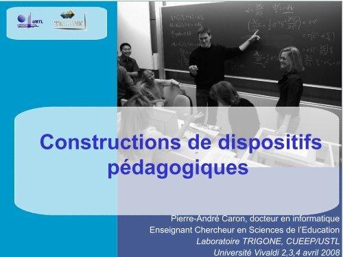 Constructions de dispositifs pédagogiques