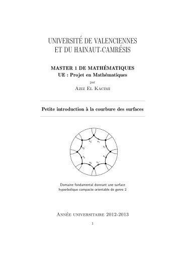 universit´e de valenciennes et du hainaut-camr´esis - Université de ...
