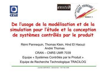 De l'usage de la modélisation et de la simulation pour l'étude et la ...