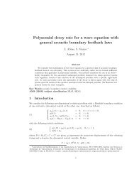 Polynomial decay rate for a wave equation with general acoustic ...