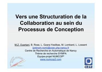 Vers une Structuration de la Collaboration au sein du Processus de ...