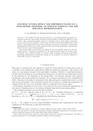 MULTIPLE TUNNEL EFFECT FOR DISPERSIVE WAVES ON A ...