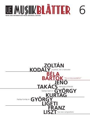 Béla BartóK - Universal Edition