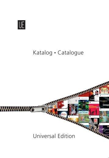 UE Gesamtkatalog - Universal Edition