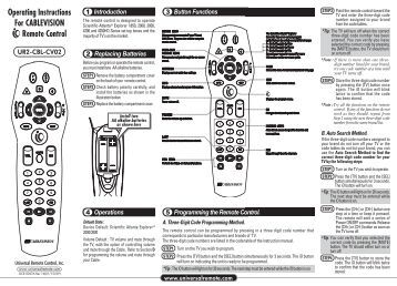 UR3-SR3M-CHD Programming Instructions and Codes