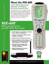 MX-600™ - Universal Remote Control