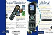 MX-880 4 Page Brochure.qxp - Universal Remote Control