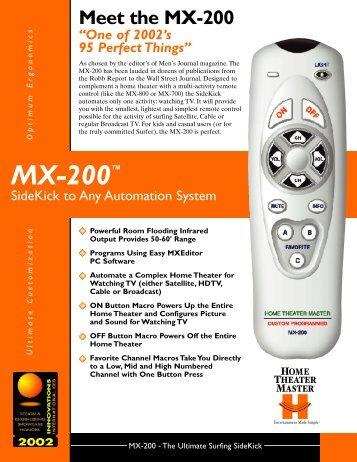 MX-200™ - Universal Remote Control