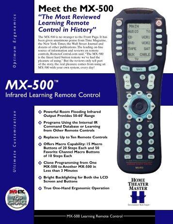 MX-500™ - Universal Remote Control