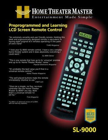 SL-9000 - Universal Remote Control