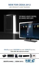 NEW FOR CEDIA 2012 - Universal Remote Control