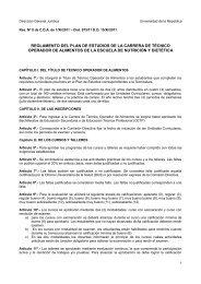 reglamento del plan de estudios de la carrera de técnico operador ...