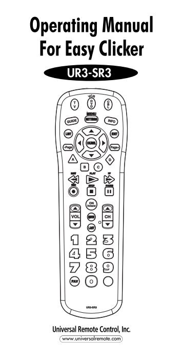 RC-U49C+ & RT-U49C15+ Programming Codes TV's