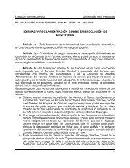 normas y reglamentación sobre subrogación de funciones