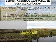 gestión ambiental adaptativa de cuencas agrícolas - Sistema de ...