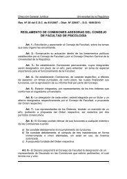 reglamento de comisiones asesoras del consejo de facultad de ...
