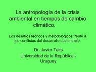 Antropología - Sistema de Bibliotecas de la Universidad de la