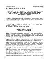 ordenanza de los cargos de asistentes académicos del rector ...