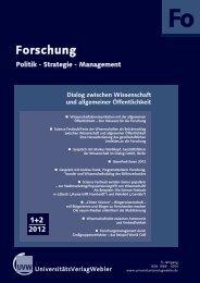 Heft 1 + 2 / 2012 - UniversitätsVerlagWebler