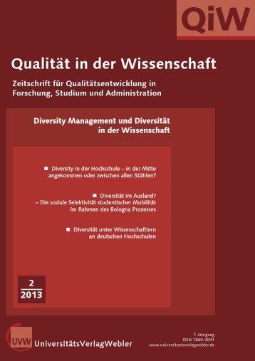 Heft 2 / 2013 - UniversitätsVerlagWebler