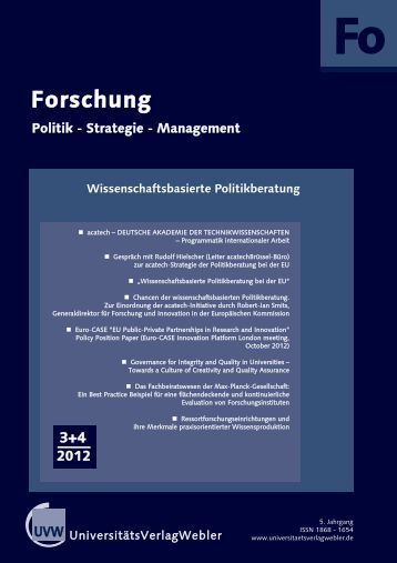 Heft 3 + 4 / 2012 - UniversitätsVerlagWebler