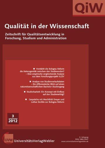 Heft 3 / 2012 - UniversitätsVerlagWebler