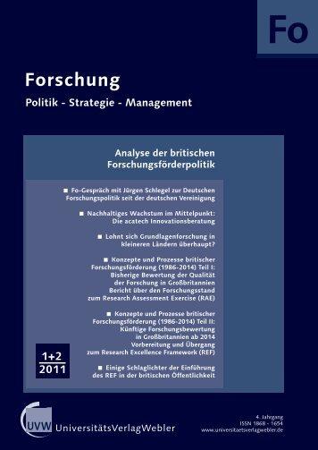 Heft 1 + 2 / 2011 - UniversitätsVerlagWebler