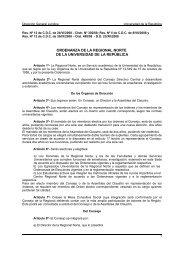 ordenanza de la regional norte de la universidad de la república