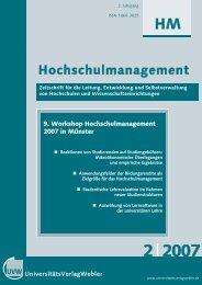 HM 2/2007 - UniversitätsVerlagWebler