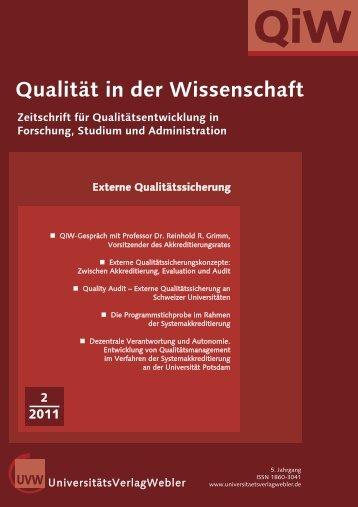 Heft 2 / 2011 - UniversitätsVerlagWebler