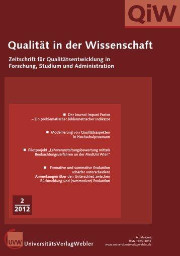 Heft 2 / 2012 - UniversitätsVerlagWebler