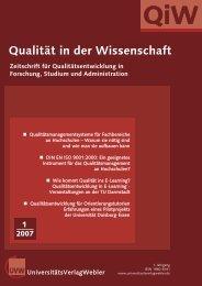 QiW - UniversitätsVerlagWebler