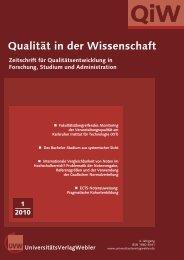 QiW 1 2010.qxd - UniversitätsVerlagWebler