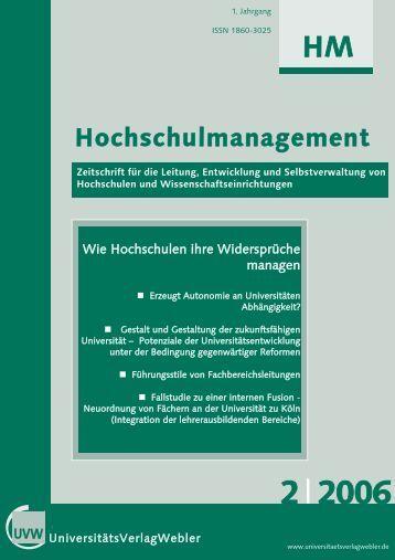 Heft 2 / 2006 - UniversitätsVerlagWebler