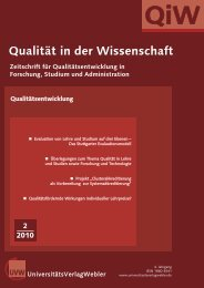 QiW 2 2010.qxd - UniversitätsVerlagWebler