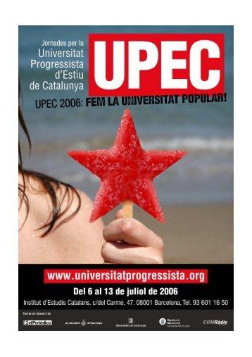 Itineraris - Universitat Progressista d'Estiu de Catalunya