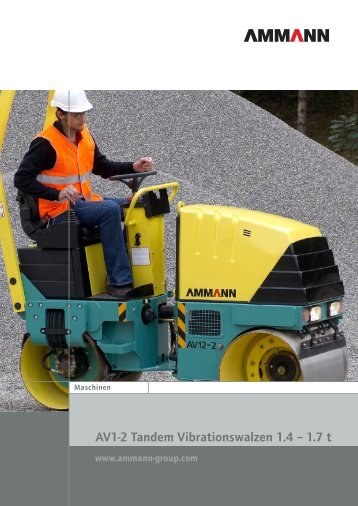 AV1-2 Tandem Vibrationswalzen 1.4 – 1.7 t - Ammann Group - Home