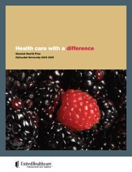 Health care with a difference - University Health Plans