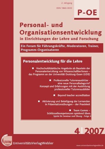 Heft 4 / 2007 - UniversitätsVerlagWebler