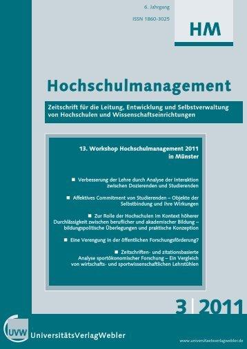Heft 3 / 2011 - UniversitätsVerlagWebler