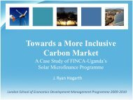 The Potential Merger of Microfinance and Carbon Finance, A ...