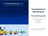 Transparency in - University Meets Microfinance