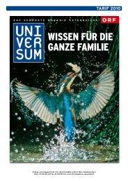 tarif 2010 - Universum Magazin