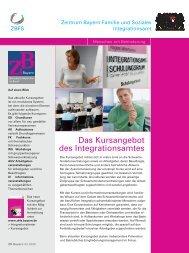 Das Kursangebot des Integrationsamtes - Universum Verlag