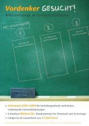 Lehrerpreis 2007/2008 - Universum Verlag