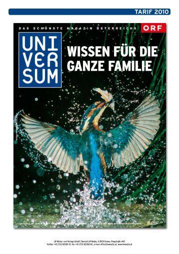 Wissen für die ganze familie - Universum Magazin