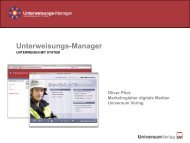 Unterweisungs-Manager - Universum Verlag