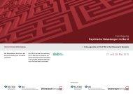 Fachtagung Psychische Belastungen im Beruf - Universum Verlag