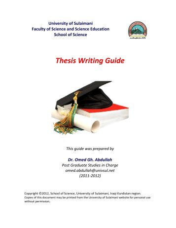 thesis writing guid